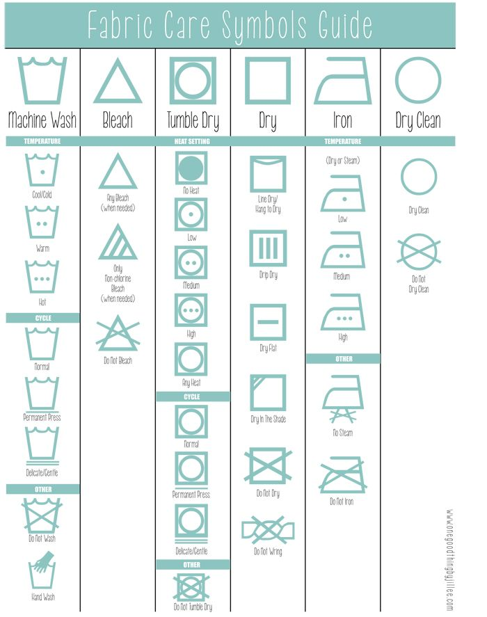 How To Read The Laundry Symbols On Your Clothing Tags! | One Good Thing by Jillee