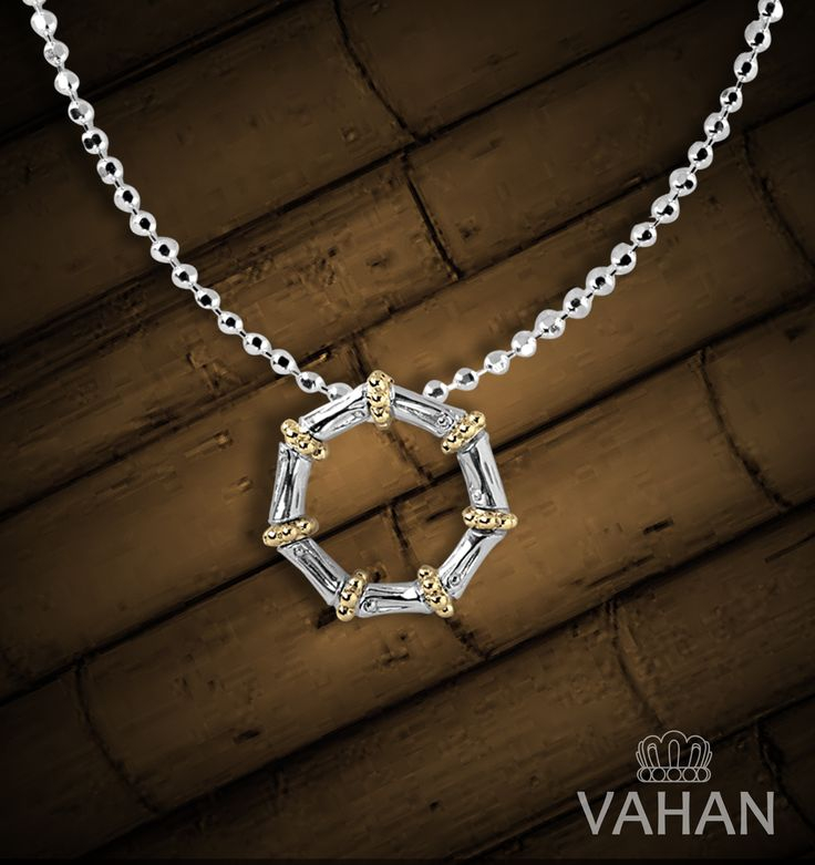 #VAHAN #VahanStyle #Pendant #Necklace #Bamboo  #Gold Silver