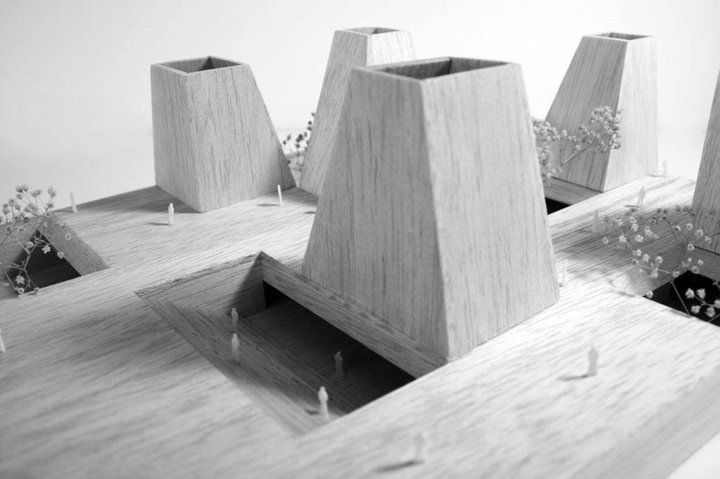 Mexican Pavilion at Shanghai Expo  ad11 Architects & ARS Architecture Workshop  2010,  maquette, architectural model, maqueta, modulo