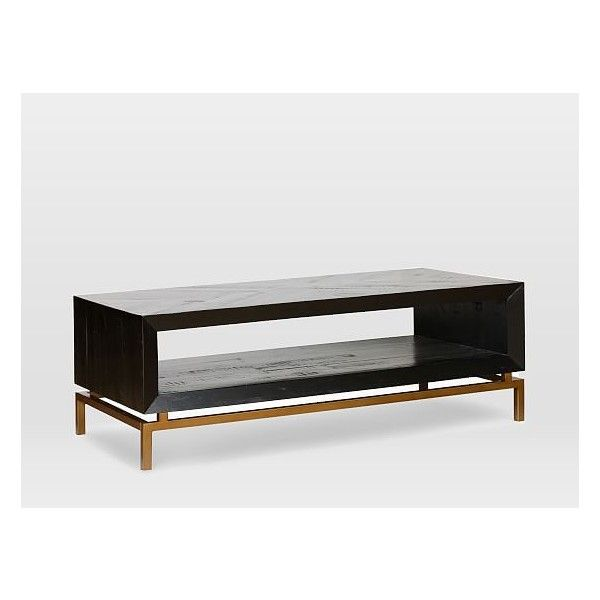 West Elm Alexa Coffee Table ($649) ❤ liked on Polyvore featuring home, furniture, tables, accent tables, acacia wood furniture, west elm, west elm coffee table, shelf furniture and west elm table