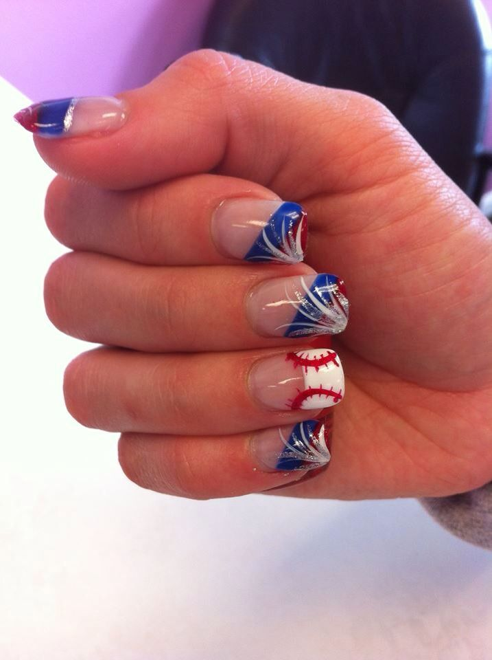 4th of July Baseball Nails - 555 Best Sports Nails Images On Pinterest Baseball Nail Designs