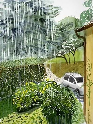DAVID HOCKNEY: Love the colors, the rain