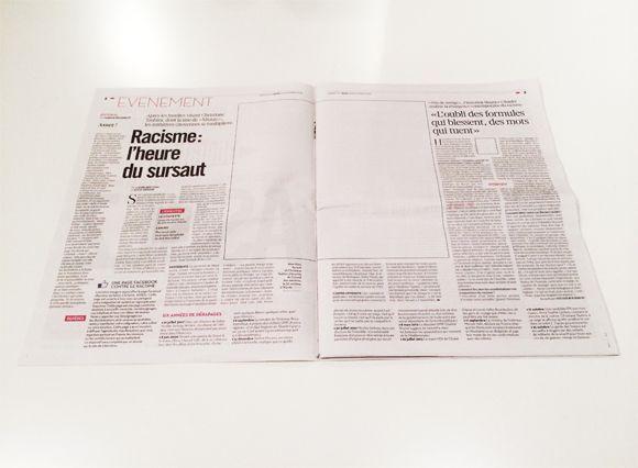 Jornal impresso sem fotos