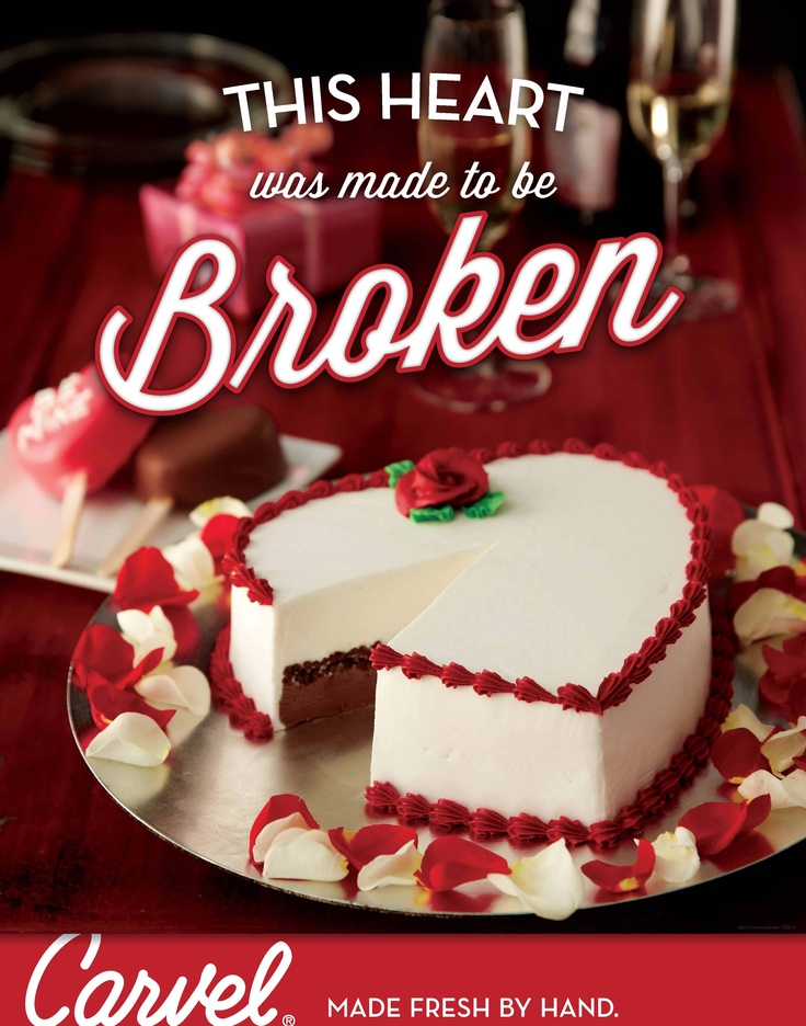 Find this Pin and more on Holiday Ice Cream Cakes by Carvel. Get this Special cakes for Lovely Valentines Day with Flat off. Free home delivery in Hyderabad. Carvel is the original neighborhood ice cream shoppe with premium ice cream, take-home treats and handmade cakes, all nearby.