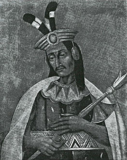 Retrato de Huáscar, el XIII emperador incaico (1491-1533; r. 1527-1532)