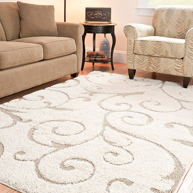 10 Foot Square Rug Part - 49: Safavieh Ultimate Cream/Beige Power-Loomed Shag Rug (8u0027 X 10u0027