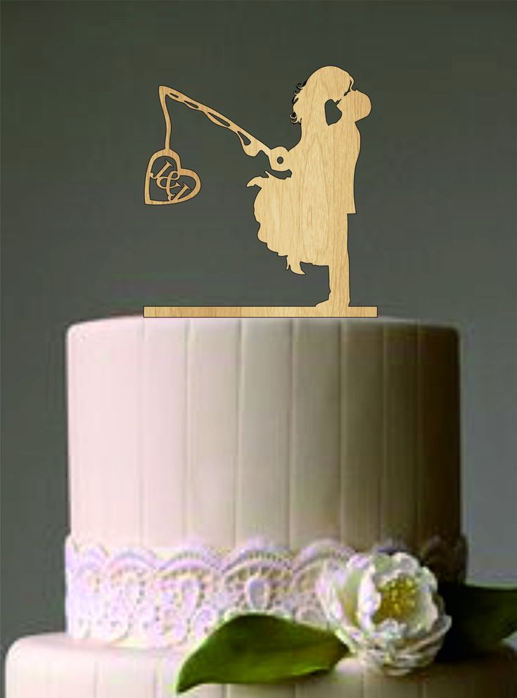 1000 Ideas About Fishing Wedding Cake Toppers On Pinterest