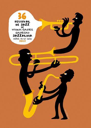 Cartel del festival de jazz de Vitoria-Gasteiz 2012