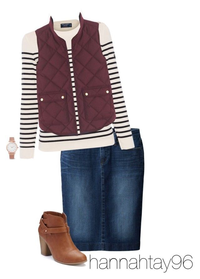 """Untitled #365"" by hannahtay96 ❤ liked on Polyvore featuring Uniqlo, Saint James, Larsson & Jennings, J.Crew and LC Lauren Conrad"