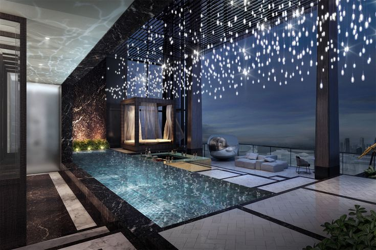 The jewel in the crown is the stunning 'Super Penthouse' located from the 62nd to 64th floor that is the highest point in Singapore. This spectacular triplex residence boasts 21,000 sq ft, which is the largest non-landed residence in Singapore, and features an exclusive private swimming pool, cabana, jacuzzi room, bar facilities, and entertainment room.