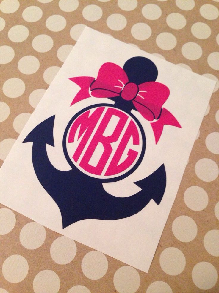 Anchor Monogram | Anchor With Bow Monogram | Monogrammed Decal | Anchor Monogram Decal | Personalized | Car Decal | Preppy Anchor | Prepster by MMVinylCreations on Etsy https://www.etsy.com/listing/242845091/anchor-monogram-anchor-with-bow-monogram