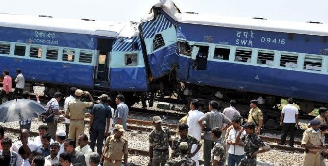 Deadly Train Mishap in India :: 12 died and 42 injured..