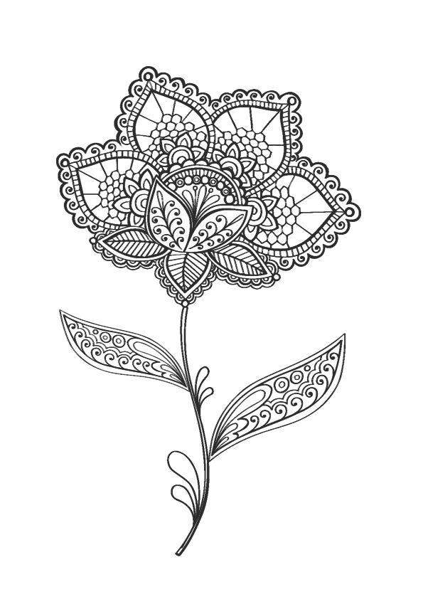 """iColor """"Flowers"""" 595x842"""