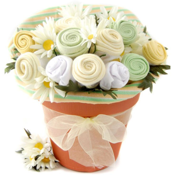 Nikki's Baby Blossom Clothing Gift Bouquet - Neutral - 1921-N
