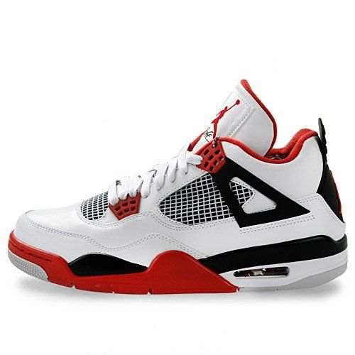 Amazon.com: Mens Nike Air Jordan Retro 4 Basketball Shoes White / Black / Varsity Red 308497-110: Shoes  $24.99-$275.00