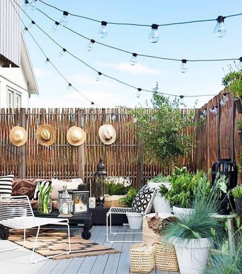 #BackYardDecor #Wood #NaturalLook #HangingLights #Hats #Summer - Architecture and Home Decor - Bedroom - Bathroom - Kitchen And Living Room Interior Design Decorating Ideas - #architecture #design #interiordesign #homedesign #architect #architectural #hom