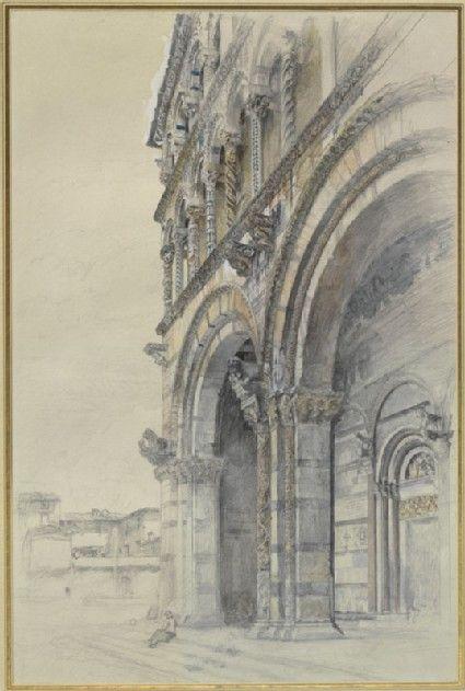 drawing, John Ruskin, July - August 1874