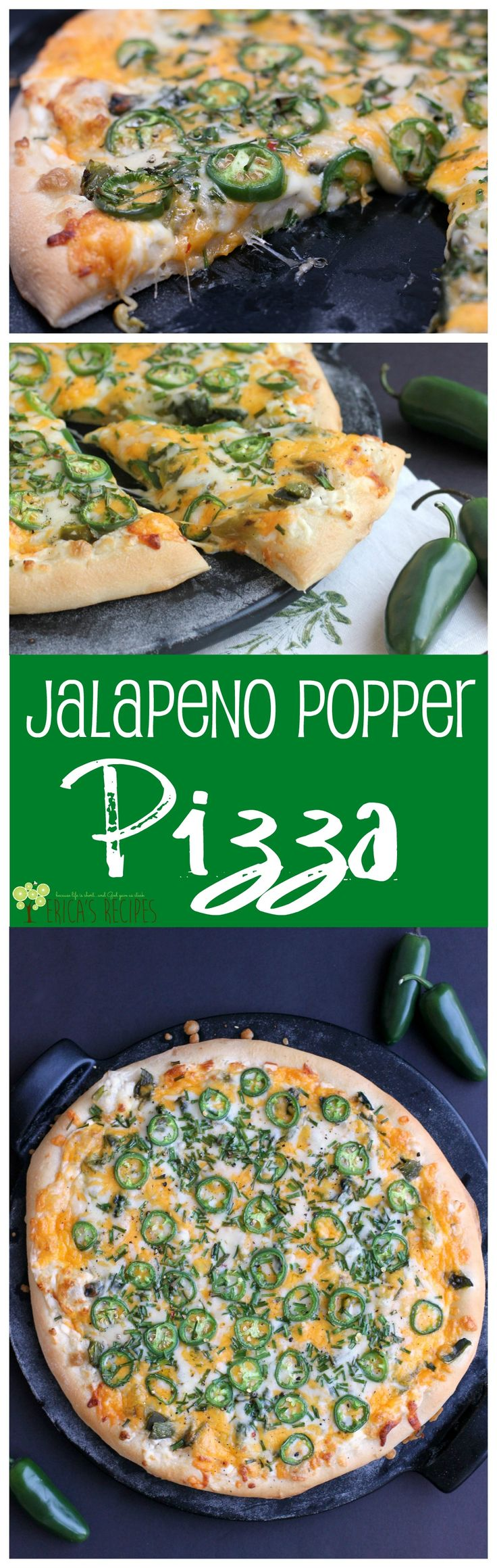 Jalapeno Popper Pizza from EricasRecipes.com