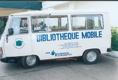 Mobile library, Conakry, Guinea.