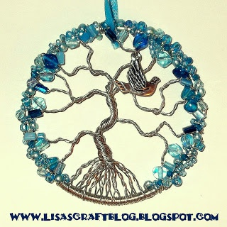 Lisas Craft Blog: Tutorial: Wire-Wrapped Tree of Life Ornament