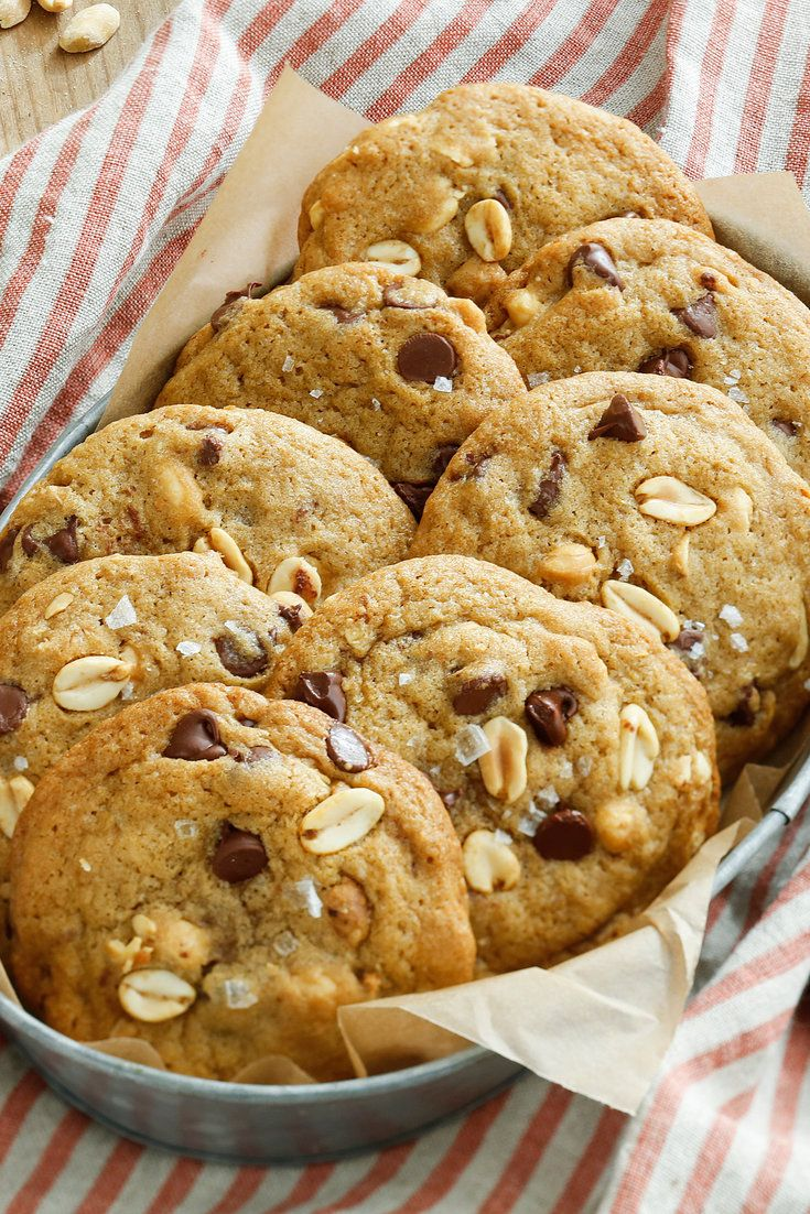 These cookies offer a terrific blend of salty and sweet, with the crunch of the peanuts lending a bit of texture to a chewy treat They are also very easy to make and require only about an hour But watch the timer — if they are overcooked, they will lose their chewiness.