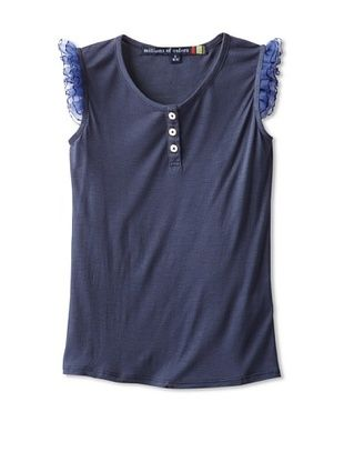 71% OFF Millions Of Colors Girl's Flower Tank (Indigo)