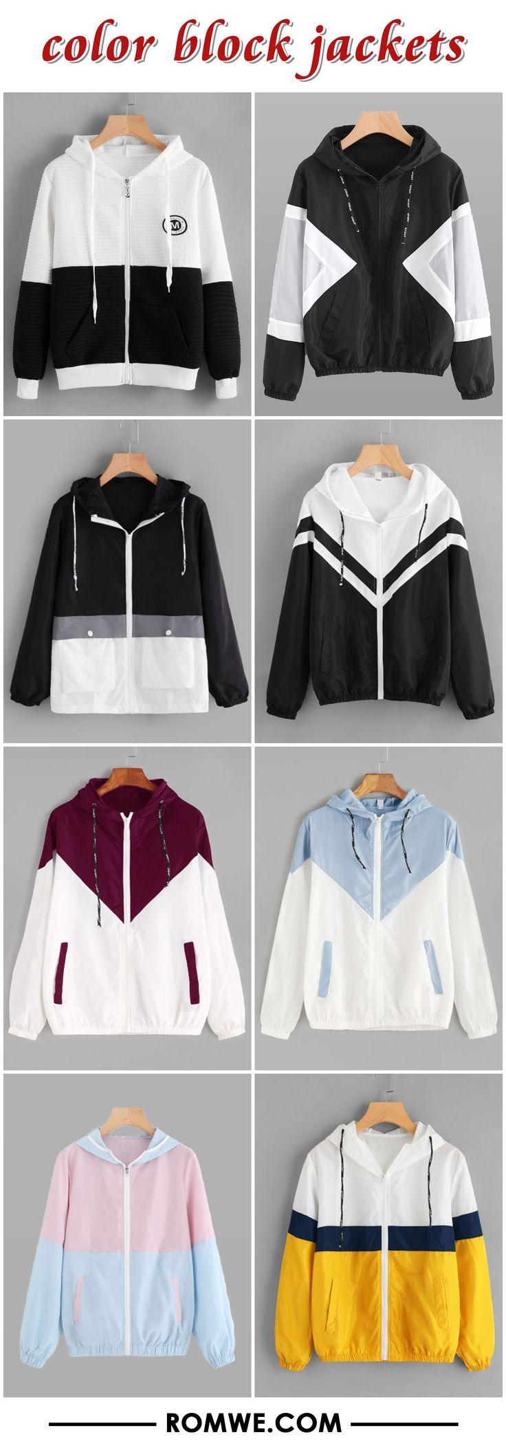 color block jackets 2017 - romwe.com