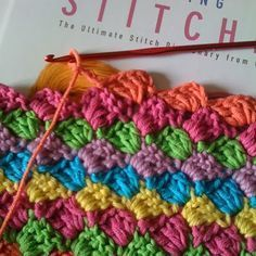 Makes a quick baby blanket. I'd love to learn how to do this...