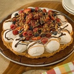 Brownie Ice Cream Pizza: Desserts, Ice Cream Pizza, Boxes Brownies, Sweet Tooth, Pizza Recipes, Brownies Ice, Drinks, Brownies Treats, Icecream