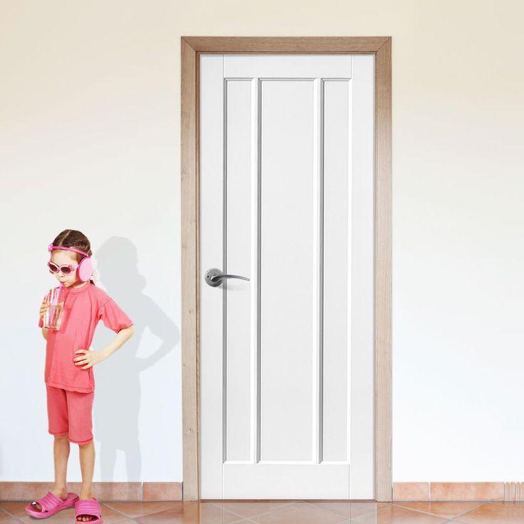 Lincoln White Primed 3 Panel Door. #whitedoor #internalwhitedoor #whitemoderndoor