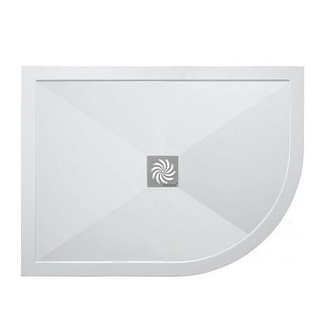 Simpsons - Offset Quadrant Low Profile Stone Resin Shower Tray