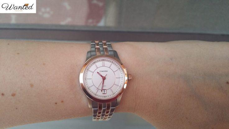 Elegante e rffinato questo orologio della Comtex. Realizzato in acciaio e oro rosa dona al braccio un aspetto leggero, ma importante!  #orologi #comtex #woman #ororose #quarzo #elegante #style