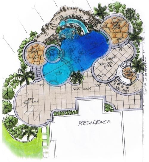 887 best pools images on pinterest backyard ideas decks for Swimming pool design layout