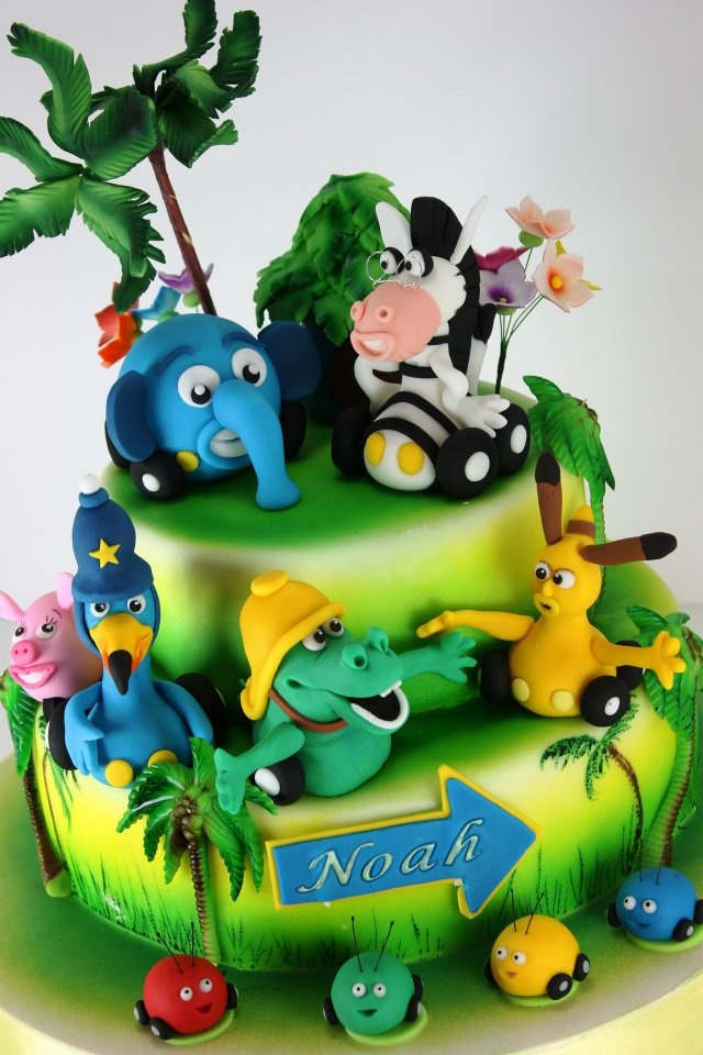 Jungle Junction Cake by Viorica's Cakes