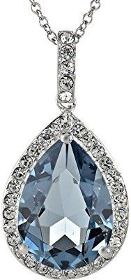 Sterling-Silver-and-Swarovski-Elements-Crystal-Pear-Shape-Pendant-Necklace-18-0