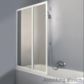 Hüppe Combinett 2 Badewannenabtrennung, 2-teilig Kunstglas Pacific S klar ohne ANTI-PLAQUE / silber matt