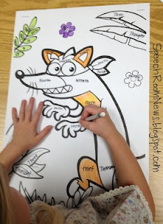 Coloring in speech therapy. Addressing Artic and grammar! Fun homework!