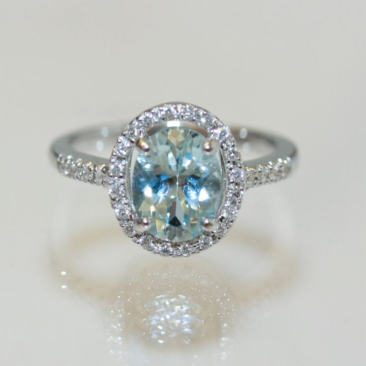 aquamarine rings | Buy 18ct aquamarine and diamond ring, Sold Rings Sydney ...