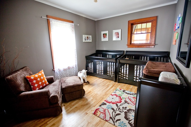 Gray Walls With Natural Wood Trim Children Amp Baby Room