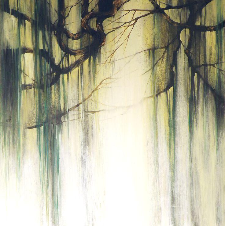 """""""Don't Cry"""" - Olio su legno, 100x100 cm"""