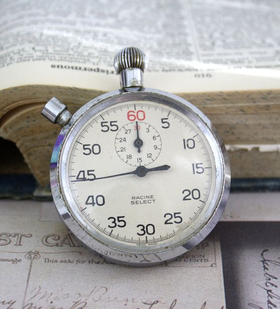 Vintage Stopwatch Clock Timer by colinettesupplies on Etsy, $8,75