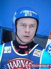 Risto Jussilainen podczas zawodów PŚ w Zakopanem (2006).