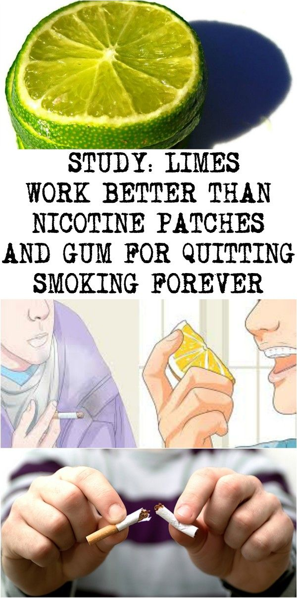 STUDY: LIMES WORK BETTER THAN NICOTINE PATCHES AND GUM FOR