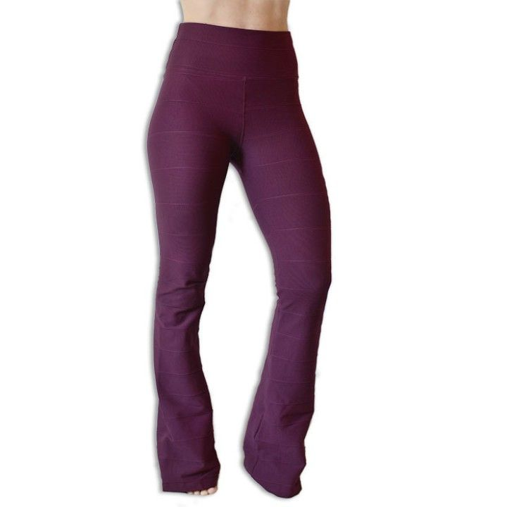Purple/Wine Bandage Flare Pants from Active Wear for $49.00