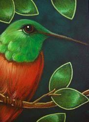 Art: BERYLLINE HUMMINGBIRD by Artist Cyra R. Cancel