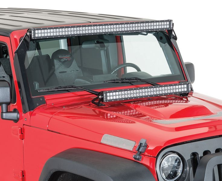 KC C-Series LED Lights are the perfect blend of value and performance! This afforable line of LED's is the perfect solution for the everyday off-road enthusiast and even those just looking for some extra lighting power. The C30 LED Light with Hood Mount Brackets come with a 30 inch light bar and features dual Spot and Flood Beam Patterns with signature black faceplate and include all required wiring. Light bars kits come complete with mounting brackets specifically designed for JK Wranglers!