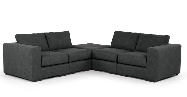 Mortimer Modular Corner Sofa Group, Shadow Grey