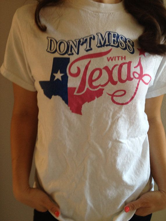 Don't Mess With Texas Sick Vintage TShirt Tee by NerdPerfect, $18.00