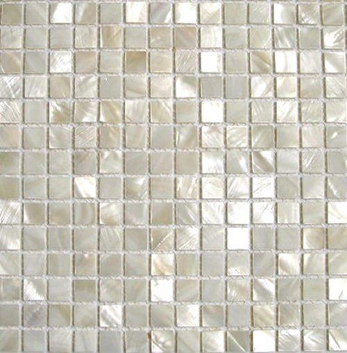 white shell tile