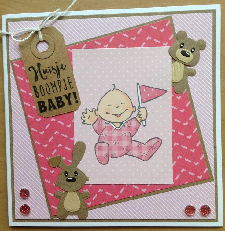 Babykaartjes vind ik misschien wel het leukst om te maken, zeker met al die nieuwe spulletjes van Marianne Design!         Ik maakte vandaa...